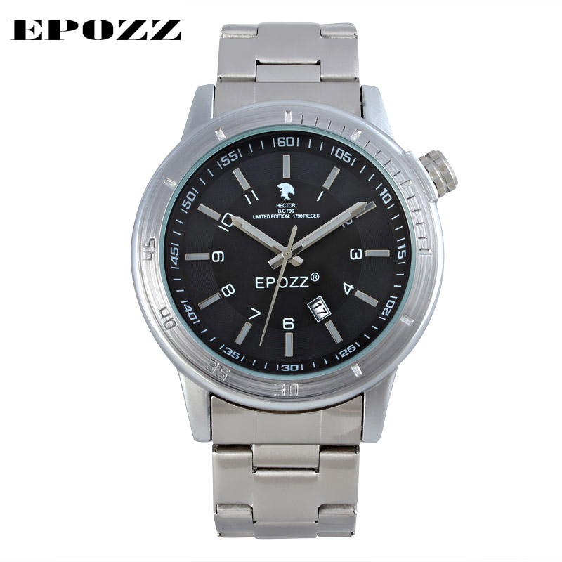 Brand EPOZZ Luxury New Arrival Especial Numbers Signet For Unique Stainless Steel Men Fashion Quartz Watches Men Limited Edition
