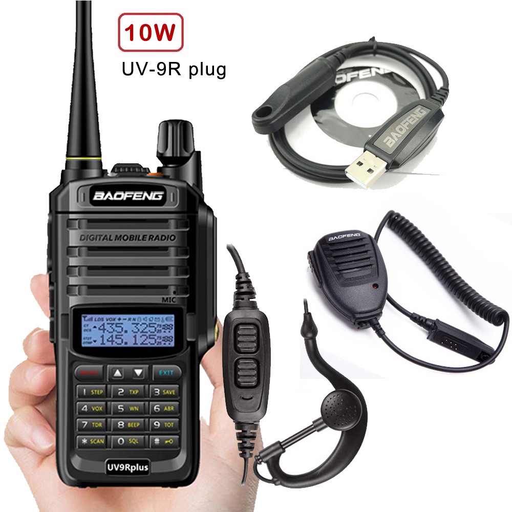 NEW Baofeng UV 9R plus High Power Upgrade Waterproof IP67 walkie talkie 10w for two way