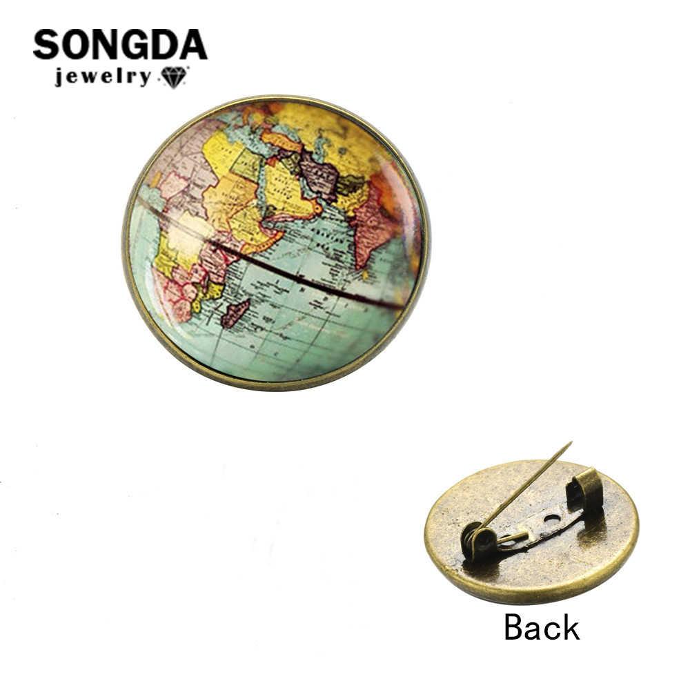SONGDA Новинка карта мира путешествия земли булавки броши Wanderlust Мир Нью-Йорк Бостонская карта значок джинсовые рюкзаки шпильки кнопка