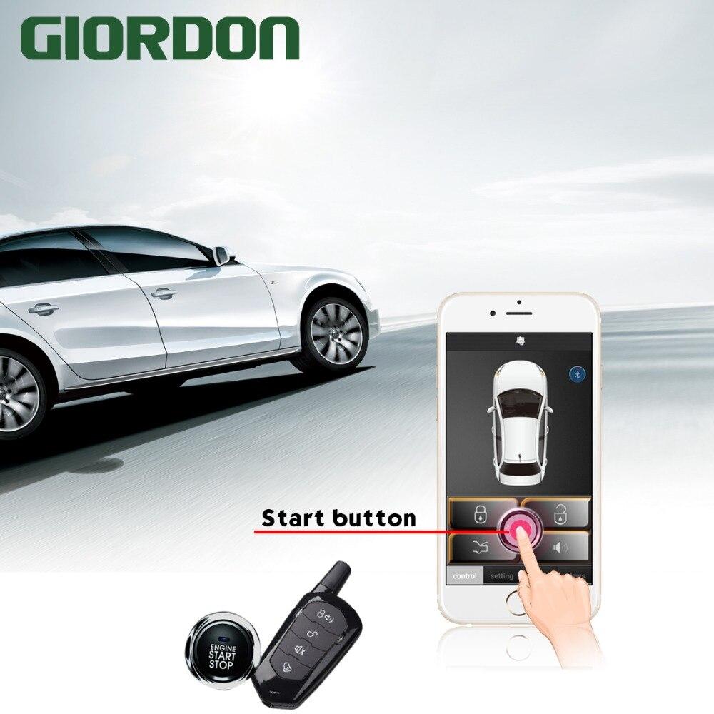 Universel Auto Anti-vol alarme voiture confortable sans clé entrée un bouton démarrage télécommande système Automobile voiture accessoire - 2