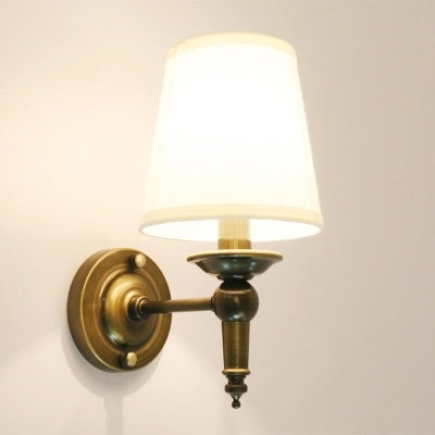 American Countryside Style Brassy Wrought Iron Retro Wall Lamp Nostalgia Bedside Light Coffee Shop Decoration Lamp Free Shipping