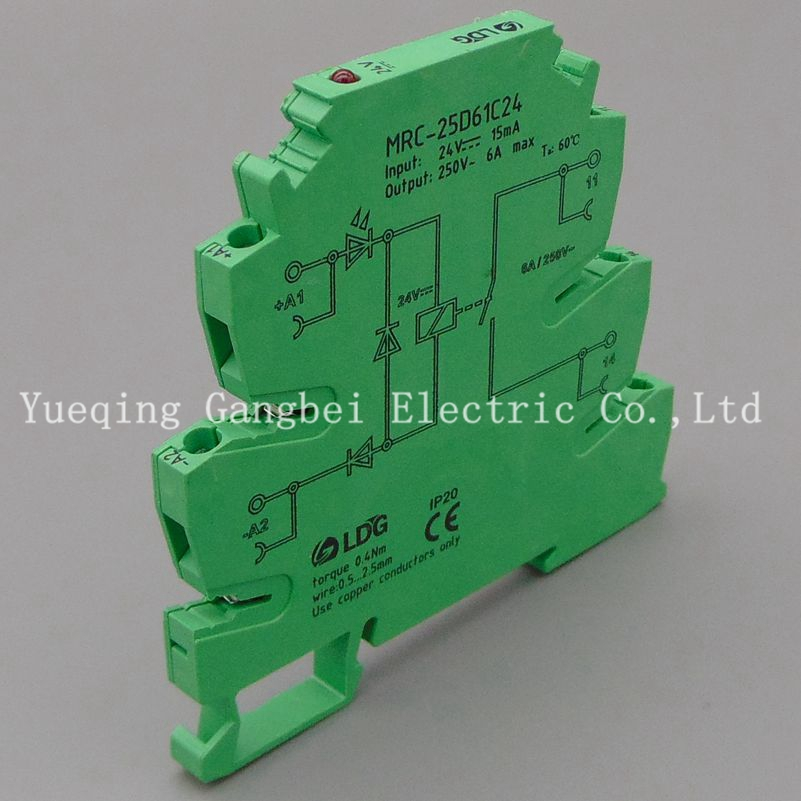 MRC-25D61C24 intermediate relay 24V DC relay board ultra-thin relay module