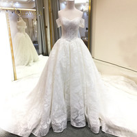 Vestido De Noiva Sweetheart Lace A-Line Wedding Dresses 2018 Off Shoulder Embroidery Beaded Vintage Bridal Gown Plus Size