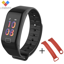 Lerbyee Activity Tracker Smart Color Screen Bracelet Bluetooth Heart Rate Monitor Message Reminder Men Watch New for IOS Android