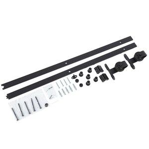 Image 4 - 183cm 200cm Set di binari per binari per fienile Kit di guide per porte scorrevoli in acciaio per porte scorrevoli in legno