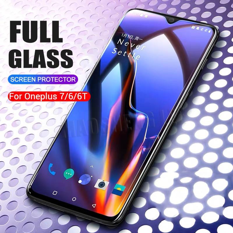 2 шт./лот, полностью закаленное стекло для Oneplus 6 6T 7, Защитное стекло для экрана 2.5D, закаленное стекло для one plus 7 6 6 t, анти синее стекло-in Защитные стёкла и плёнки from Мобильные телефоны и телекоммуникации