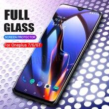 2 pièces/lot verre trempé complet pour Oneplus 6 6T 7 verre protecteur décran 2.5D verre trempé pour un plus 7T 6 6t Anti verre bleu