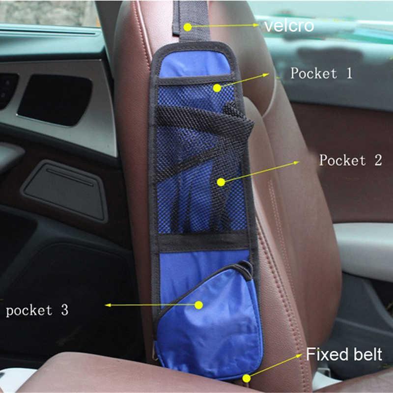 Huier 1 ペア防水ファブリック車の自動車シートサイドバック収納ポケットホルダー車のシートカバーぶら下げバッグオーガナイザー展開スペース