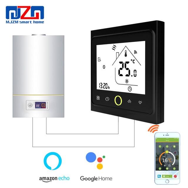 MJZM BGL-002 WiFi y Control de la mano termostato controlador de temperatura para caldera de Gas Alexa Google termoregulator para habitación cálida