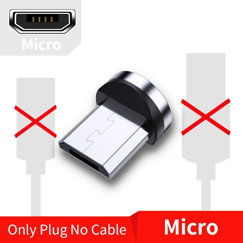 FPU 3 м Магнитный Micro USB кабель для iPhone samsung Android мобильный телефон Быстрая зарядка usb type C кабель магнит зарядное устройство провод шнур - Цвет: Only Micro Plug
