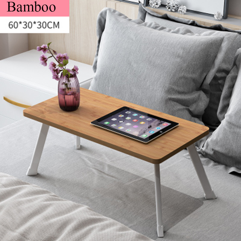Bamboo Simple Computer Desk to do the Bed With a Desk Folding Dormitory Home Multifunctional Lazy Small Table lazy folding bed on a laptop computer desk student dormitory receive table can be portable writing desk