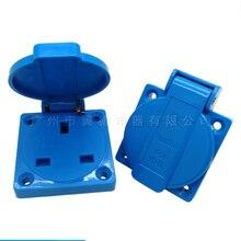 10pcs, 50x50mm, British standard waterproof socket 13A250V , IP54/IP44 British standard dustproof, splash-proof socket