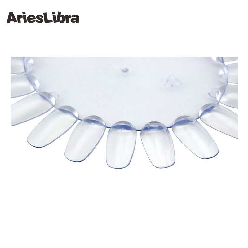 AriesLibra HOTSALE Oval tırnak sanat ekran grafik oje organizatör 20 İpuçları eğitmenler uygulama tırnak ekran jel lehçe tutucu