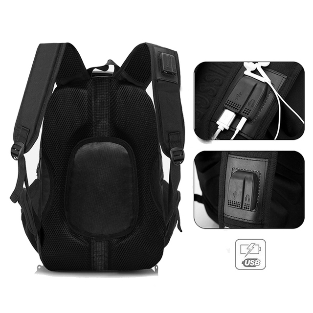 MAGIC UNION New USB Charging Laptop Backpack 15.6 inch Teenager Boys Children School Bags Waterproof Large Capacity Schoolbag 1