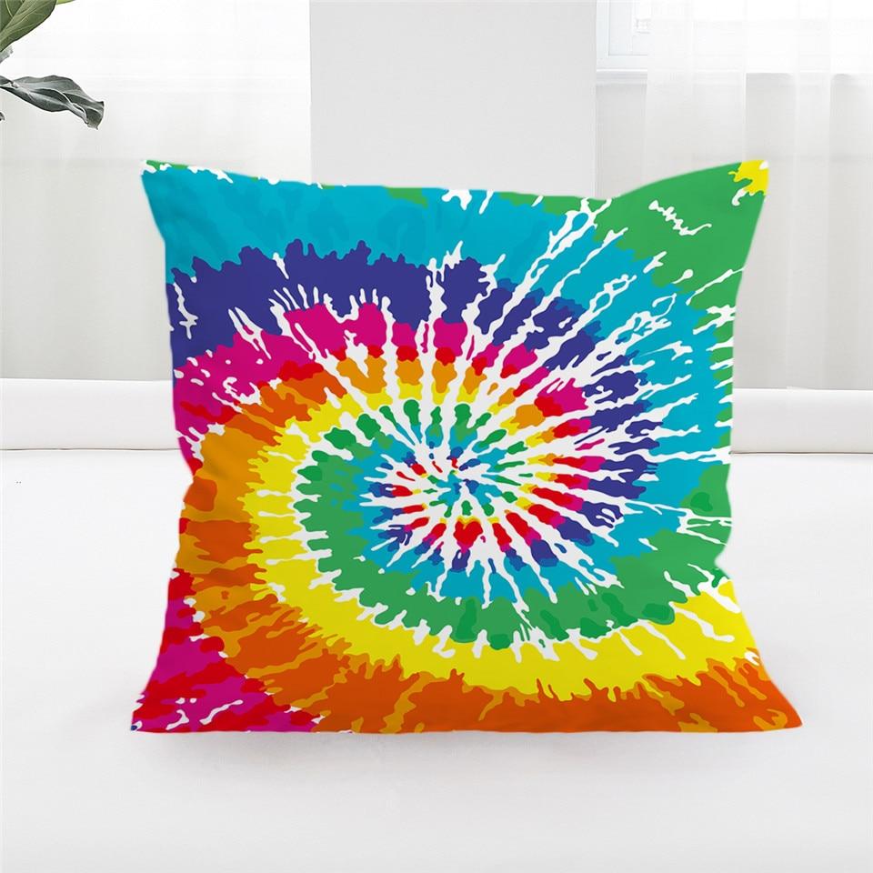 Blessliving Tie Dye Pillow Covers Bohemian Hippie Cushion
