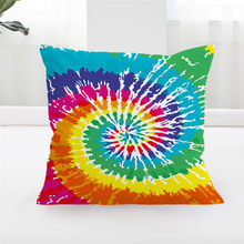 BlessLiving Tie Dye Pillow Covers Bohemian Hippie Cushion Cover Rainbow Tye Dye Decorative Throw Pillow Cases for Couch Sofa Bed(China)