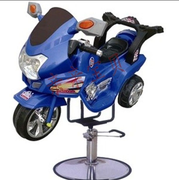 Children barber shop barber chair. Motorcycle barber chair hair salon barber chair hairdressing chair put down the barber chair