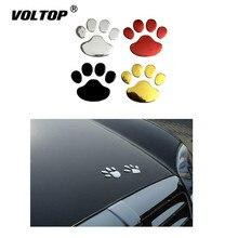 Etiqueta do carro Design Legal Pata 3D Urso Pegadas Do Gato Do Cão Animal Pegada 3 M Decalque Adesivos de Carro de Prata de Ouro acessórios Do Carro vermelho