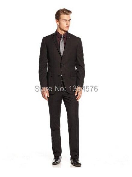 419ac6268d074 Обычный мужчины в официальный костюм черный peak нагрудные однорядный два  пуговица человек костюм ( куртка и