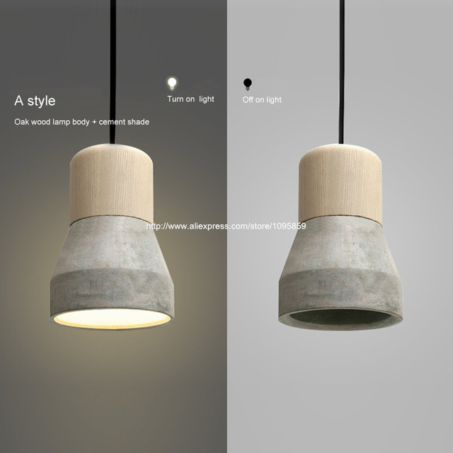 flashlight vintage cement wood pendant light lamp dining room retro ceiling
