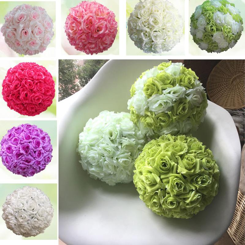 unidslote dimetro cm bola de la flor artificial flores de rose