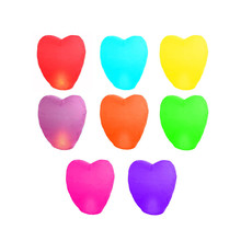 Flying Wishing Lamp Hot Air Balloon Kongming Lantern Cute Love Heart Sky Lantern Party Favors For Birthday Party 1 PC 9 Colors