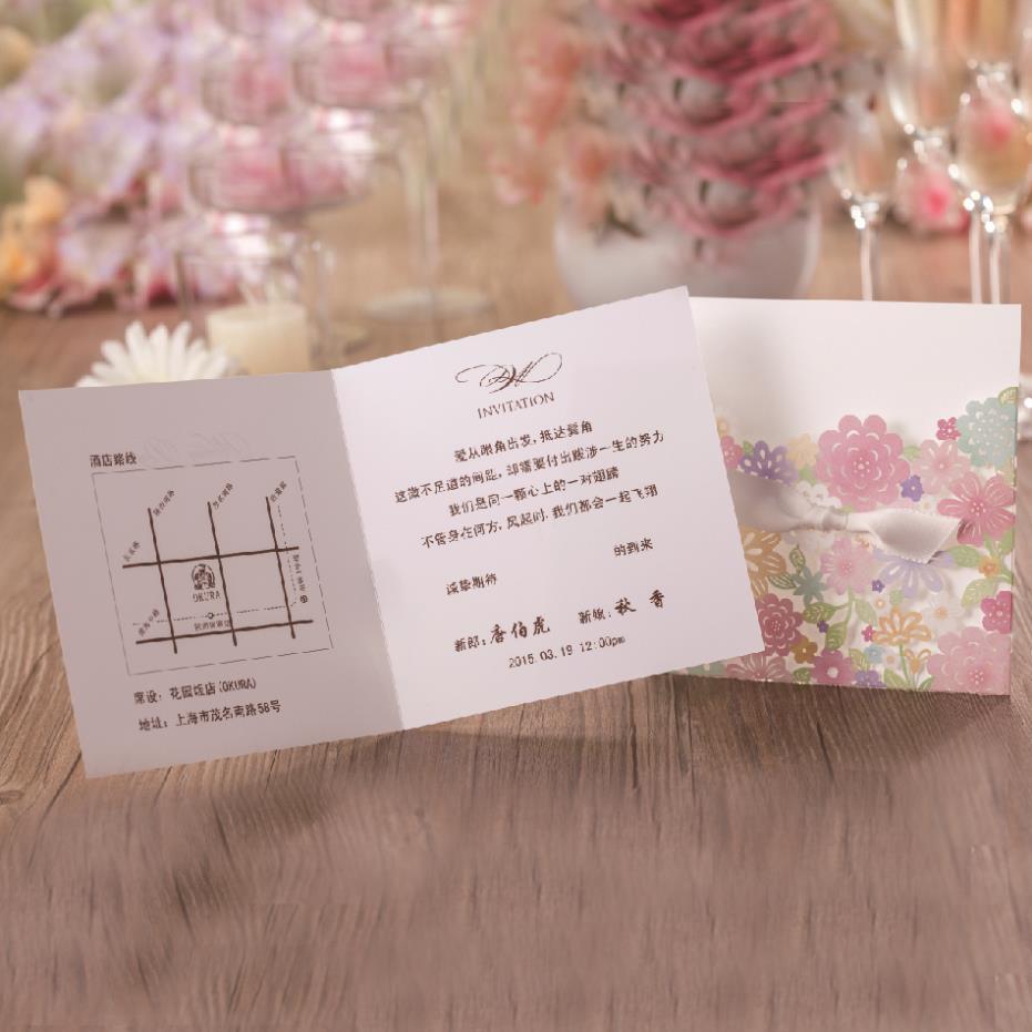 100pcs Wishmade Luxury Laser Cut Colorful Flower Lace Wedding ...