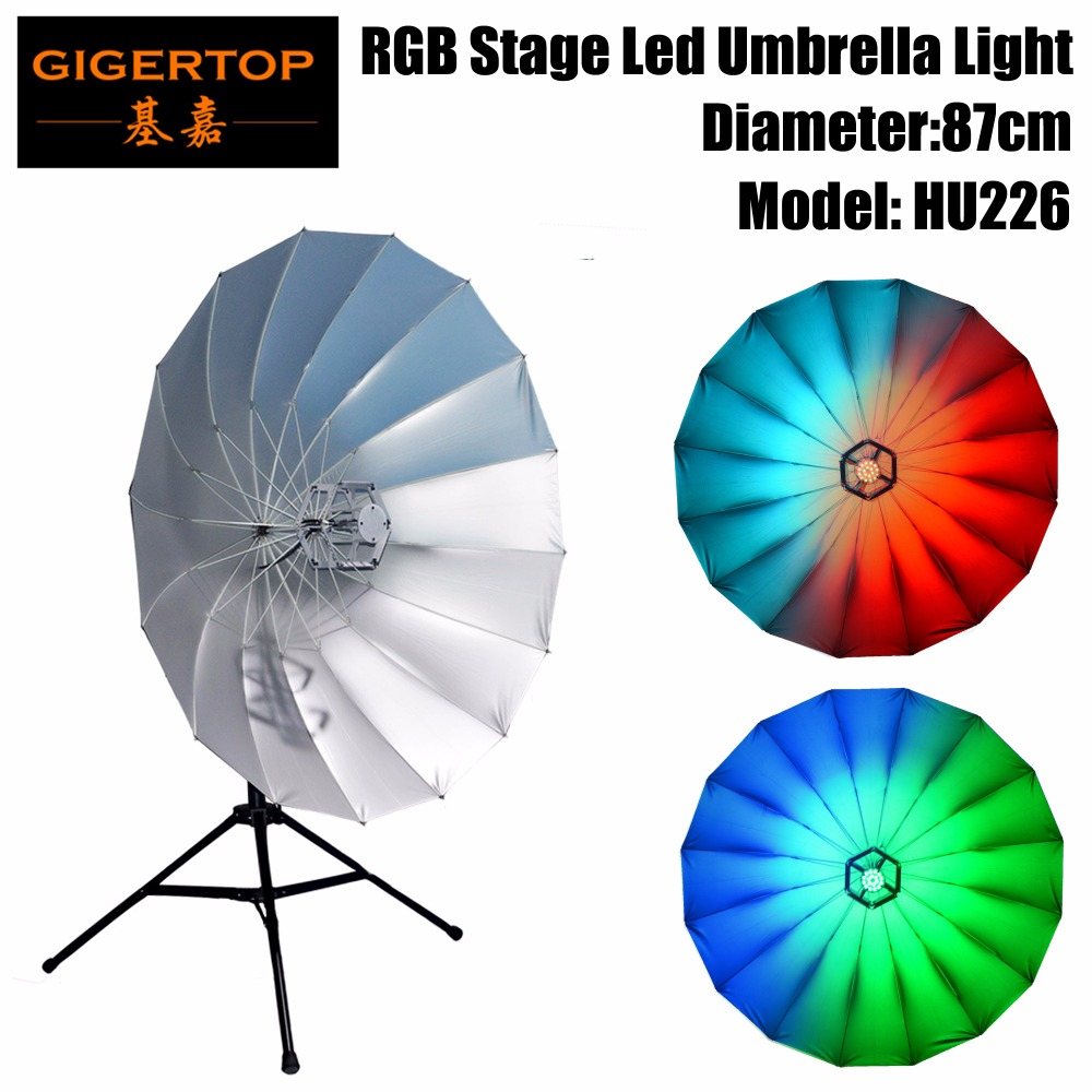 TIPTOP 87cm Diameter Led Umbrella Light 20 Inch Background Stage Light,6 Segments Make The Surfave Of The Umbrella Shine Effect