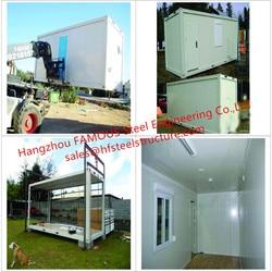 Casa pré-fabricada portátil do recipiente da armação de aço do multi-uso/casa modular do recipiente com decoração interior