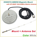 New Arrival KINNUOTA BMW58 Color White MAGNETIC MOUNT with KINNUOTA SP-860R 144/430MHz Dual Antenna/Mount Antenna Set