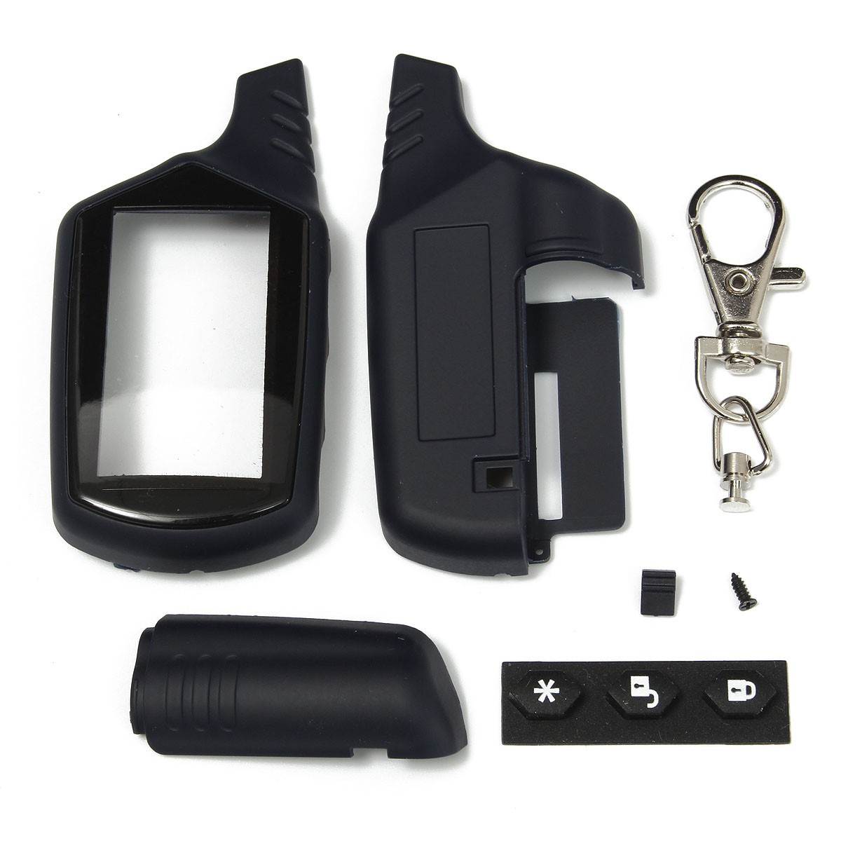 Black A91 Key Shell Keychain Case For Russian Version Starline lcd Remote Two Way Car Alarm System
