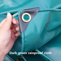 Waterproof tarpaulins covered ponchos rain wear PVC tarpaulin canvas canopy cloth cover car cloth with thick rain tarps