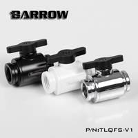 Barrow Black Sparkle Mini Valve With Black Handle For Water Cooling Computer