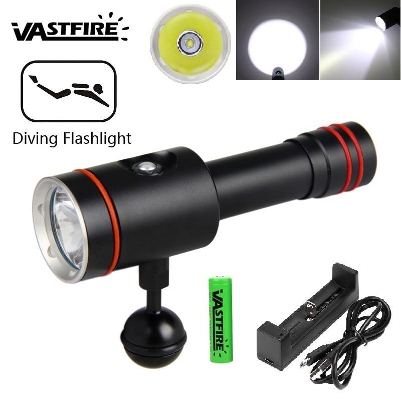 18650 lampe de poche de plongée LED lampes de poche sous-marines étanche Portable lanterne lumières lampe de plongée lampe torche