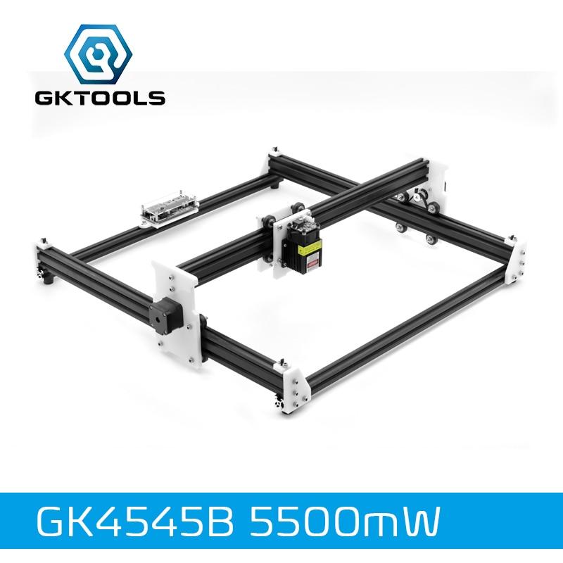 GKTOOLS 45*45 cm 5500 mw Bois Laser Graveur Cutter Gravure BRICOLAGE Machine Mini CNC Imprimante PWM, benbox GRBL EleksMaker