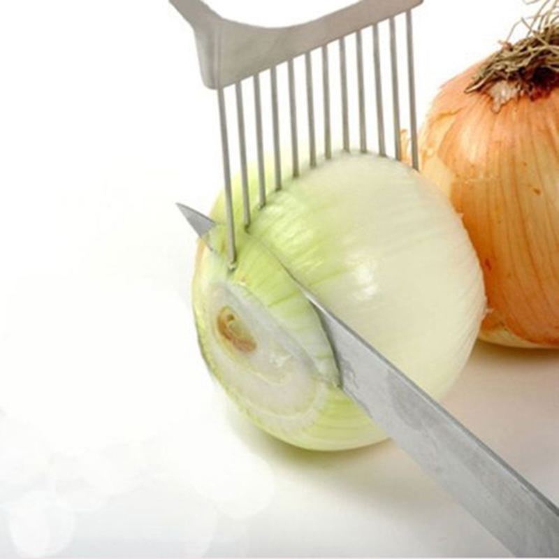 Kitchen Onion Holder and Slicer