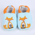 Soft Baby Shoes 2017 Spring Fox Newborn Baby Boys Moccasins Non Slip Cotton Baby Prewalker Blue Slip-on Toddler Squeaky Shoes
