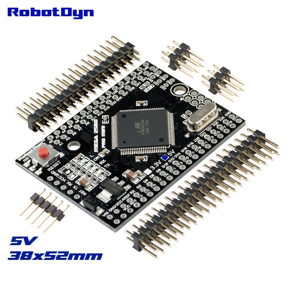 Mega 2560 PRO MINI 5 V, ATmega2560-16AU, con cabeza de alfiler macho. Compatible con Arduino Mega 2560