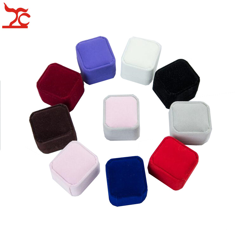 High Quality Square Wedding Velvet Earrings Ring Box  Amazing  Engagement Party Ring Jewelry Display Case Gift Boxes