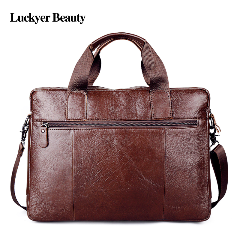 Fashion laptop travel bag Men's genuine leather 3