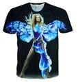 Asas de anjo / impressão 3d de Mariah Carey harajuku de punk camisetas M-XXL