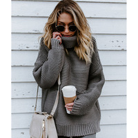 Women sweaters knitwear 2019 fashion autumn winter sweater pullovers women tops solid color loose thick female sweaters