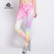 2017 new women's sports tight yoga pants high elastic soft digital printing yoga trousers pants female Capris Ropa Deportiva