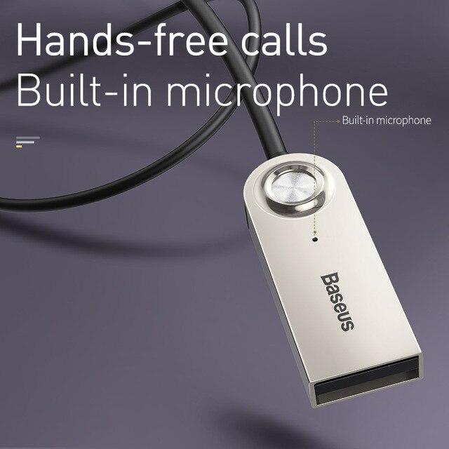 Переходник Aux-Bluetooth Baseus, со штекером 3,5 мм, Bluetooth 5.0/4.2/4.0, приемник-передатчик для музыки 6