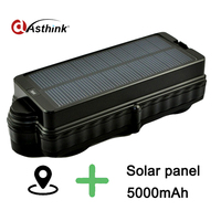Waterproof IP7 Solar Gps Tracker For Car Vehile Gps Gprs Gsm Locator With Real Time Google