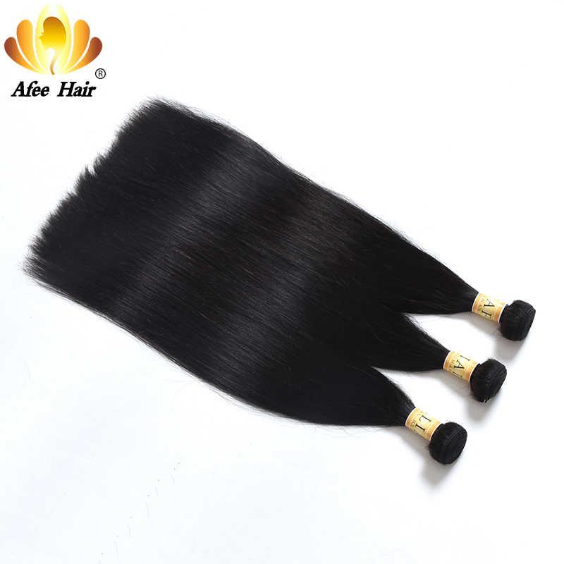 """Aliafee cabello malayo pelo lacio 3 paquetes de oferta cabello malayo paquetes de extensiones de cabello humano tejido 8 """"-28"""" pulgadas no Remy"""