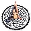 Fashion Hippie Tapestry Beach Throw Roundie Mandala Beach Towel Yoga Mat Bohemian Featur Handicrunch Scarves 2017 Hot Sale