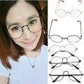 Mulheres rodada óculos ovais armações de óculos de alto grau peso leve cor sólida Óculos simples óculos vintage retro