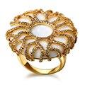Новый Кубический Цирконий Камень Женщины Большие кольца Свинец Платина Покрыли США размер 7,8, 9