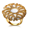 Nuevas Mujeres Grandes anillos de Piedra Zirconia Cúbico Plomo Platino Plateado EE.UU. tamaño 7,8, 9